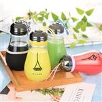 批发创意灯泡饮料瓶奶茶瓶灯泡玻璃瓶创意酸奶杯果汁奶茶店饮料瓶