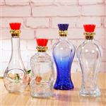 玻璃酒瓶喷色玻璃酒瓶鱼尾款式高档酒瓶