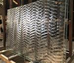 装饰玻璃 热熔玻璃 鱼骨玻璃 w纹玻璃