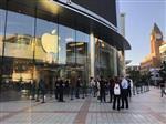 苹果手机店外墙玻璃