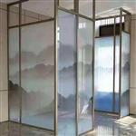 调光雾化山水画玻璃艺术玻璃生产厂家