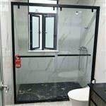 卫生间隔断_钢化玻璃门 沐浴房淋浴隔断