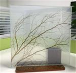 重庆夹胶夹丝艺术玻璃按尺寸定制