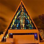 彩绘彩色艺术玻璃 天花板窗户教堂用可定制