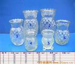 各种规格的玻璃蜡台