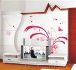彩画玻璃电视背景墙