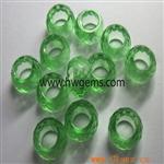 绿色玻璃车轮珠