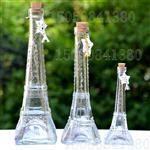 zakka巴黎埃菲尔铁塔玻璃铁塔许愿瓶带木塞铁塔