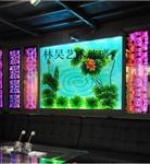 叠烧玻璃背景墙装饰玻璃荷花
