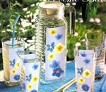 精品的花色玻璃壶