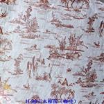 玻璃夹丝材料H98山水柳图