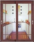 工艺玻璃厨房门