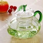 耐热玻璃竹叶壶