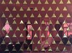 众利达艺术玻璃厂 5mm酒红镜+8mm水晶黄镜供应