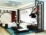 湖南艺术玻璃背景墙