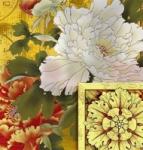 工艺玻璃-花开富贵南宁艺术玻璃