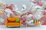 玉雕背景墙3D冰晶画技术
