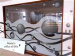 数码彩釉玻璃背景墙