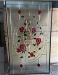 玄关隔断镶嵌艺术玻璃