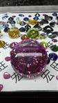 彩色圆形100mm大锆石宝石 高档家居摆设品