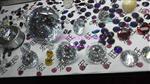 多色圆形八心八箭高品质大锆石 高档礼品摆设品
