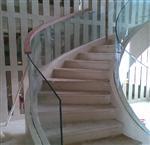 楼梯扶手弯刚玻璃