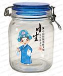 人物脸谱玻璃罐套五包装 家用储物罐
