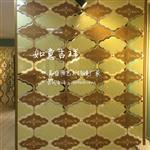 美盛源艺术玻璃拼镜背景墙如意吉祥