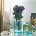 欧式竖纹玻璃花 玻璃插花器水培