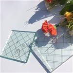 透明平板菱形格夹铁丝玻璃价格