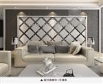 白色主题玻璃拼镜背景