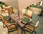 高温户外桌椅彩釉玻璃