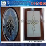 厂家供应铜条镶嵌玻璃门