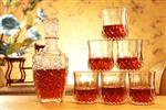 玻璃红酒瓶