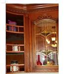 柜门铜条镶嵌玻璃