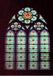 教堂彩色拼色玻璃