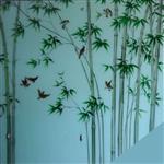 艺术玻璃背景墙 家装雕刻玻璃