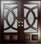 白鋅條進戶門專用高檔鑲嵌玻璃