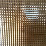 茶色双方格压花玻璃镜