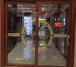 高档中空门铜条镶嵌玻璃
