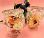 厂家批发裂纹玻璃器皿 酒店冰裂玻璃制品 家居玻璃灯罩 玻璃罩
