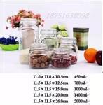 各种规格的玻璃罐 储物罐现货