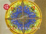 圓博制作彩色玻璃穹頂彩繪玻璃穹頂個性定制