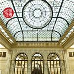 彩色玻璃穹顶彩绘玻璃穹顶厂家;