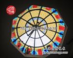 彩色玻璃穹顶彩绘玻璃个性定制