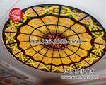 彩色玻璃穹顶彩绘玻璃穹顶个性定制上海圆厂家