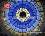 玻璃穹顶彩色玻璃蒂凡尼玻璃穹顶玻璃采光顶