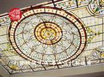 彩绘玻璃穹顶室内彩色玻璃穹顶制作