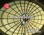 彩绘玻璃穹顶彩色玻璃穹顶圆博工艺