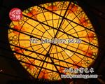 彩色玻璃穹顶彩绘玻璃穹顶玻璃价格